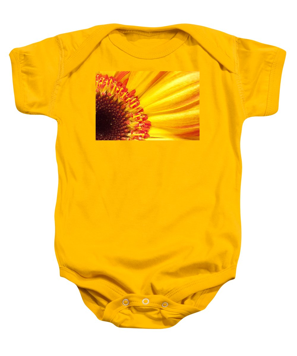 Yellow Baby Onesie featuring the photograph Little Bit Of Sunshine by Eunice Gibb