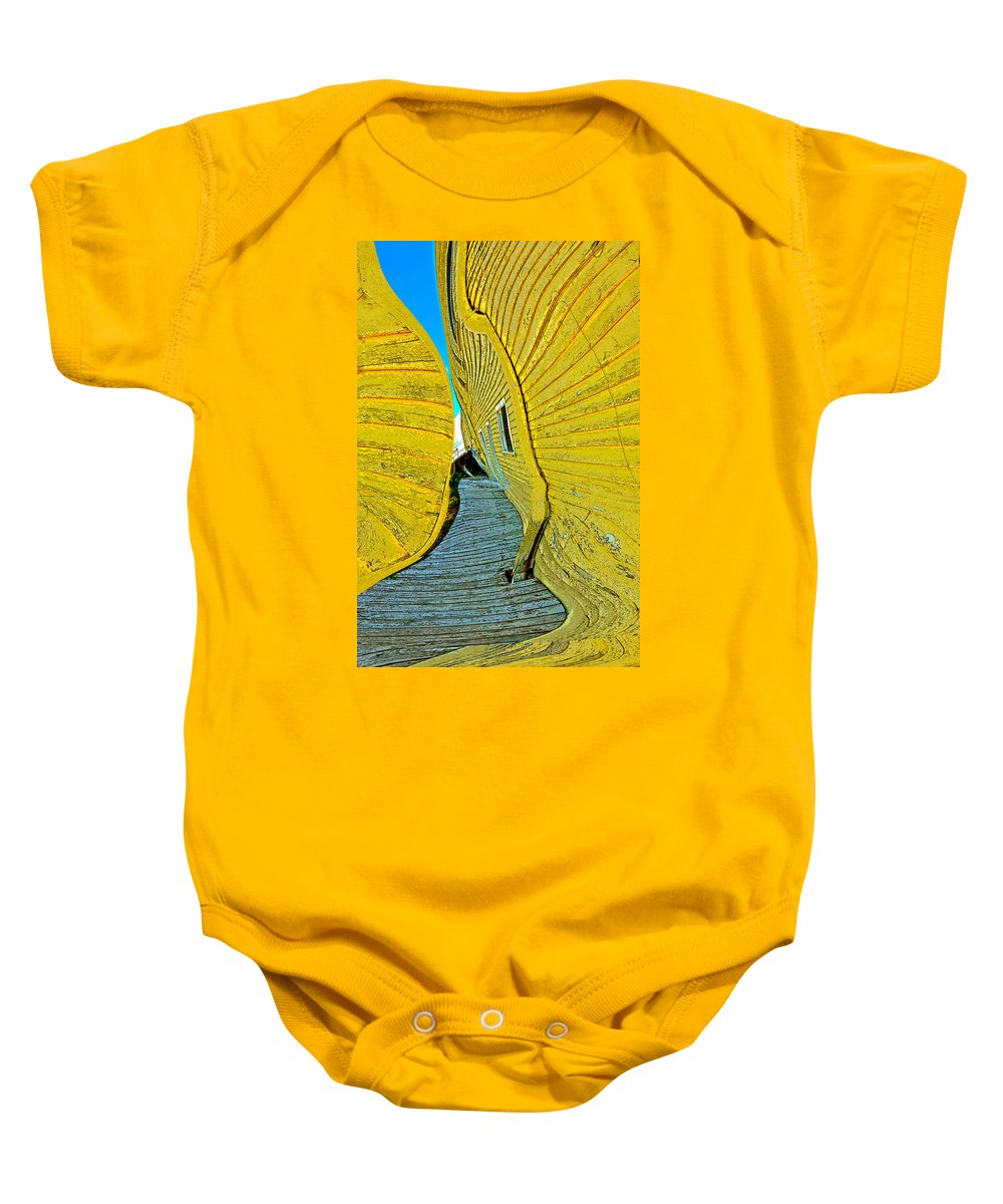 Yellow Baby Onesie featuring the photograph Mellow Yellow by Terry Anderson