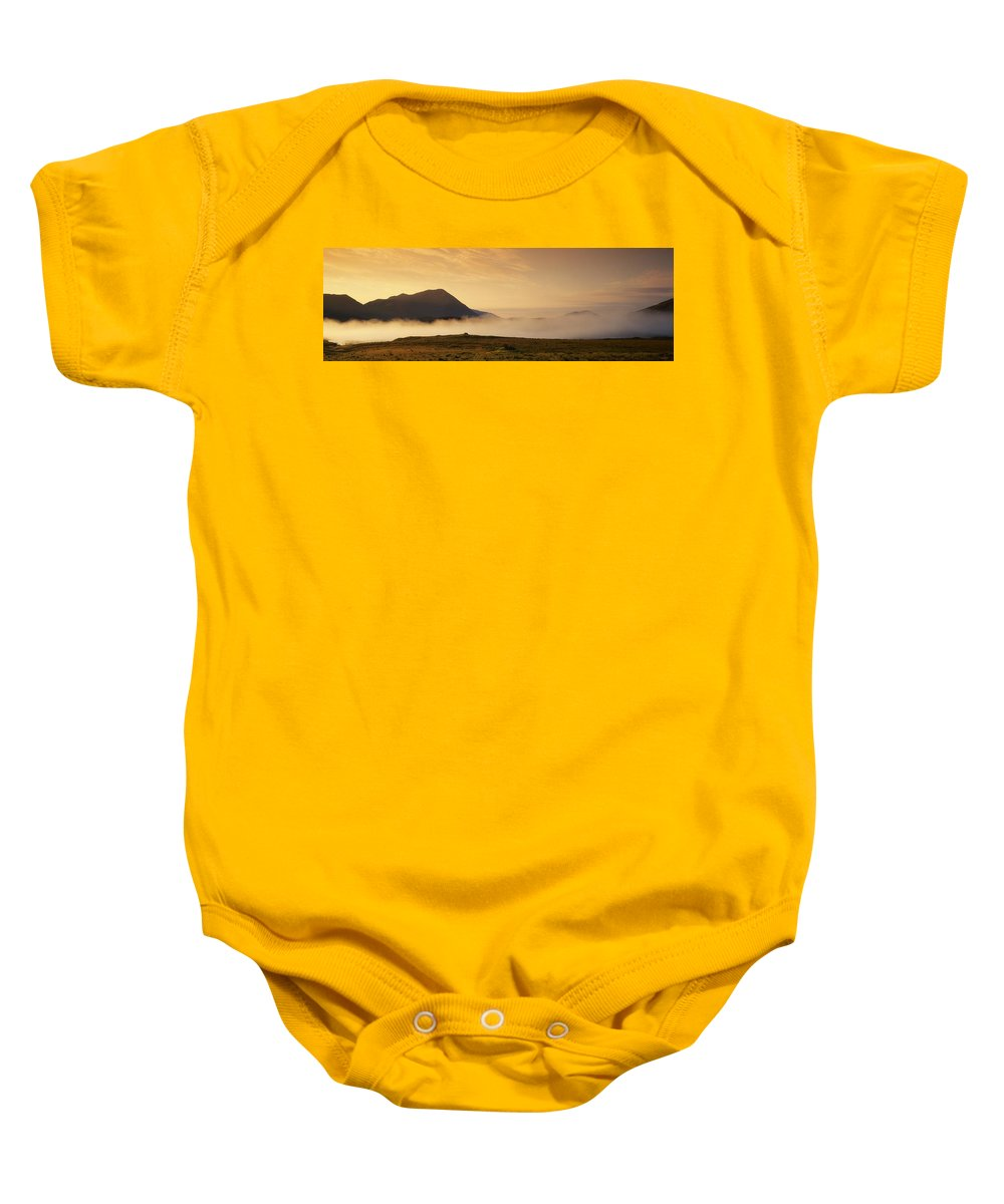 Color Image Baby Onesie featuring the photograph Morning Mist, Connemara, Co Galway by The Irish Image Collection