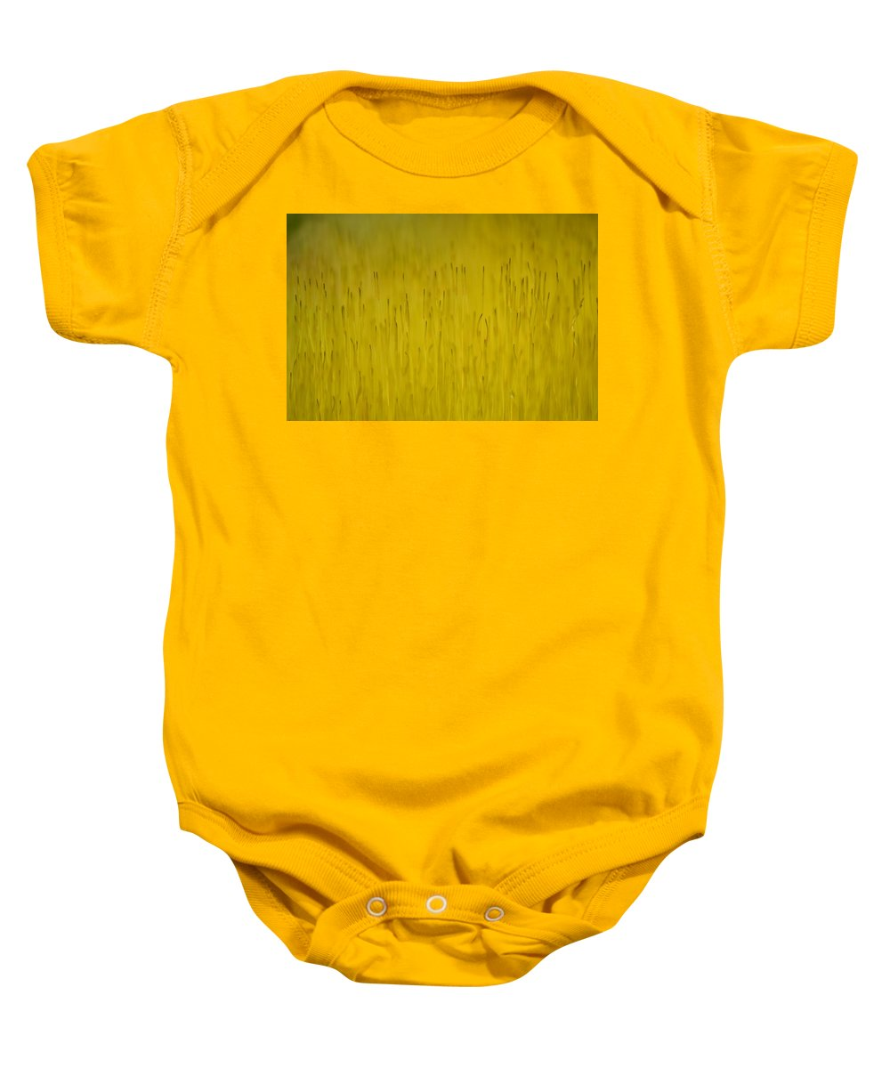 J.d. Grimes Baby Onesie featuring the photograph Moss In Yellow II by JD Grimes