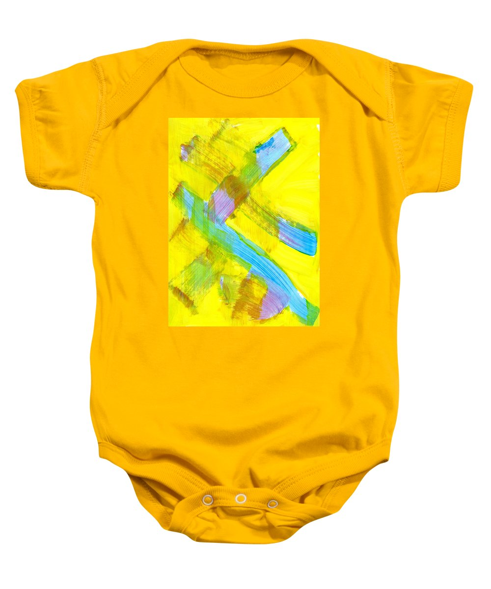 Narrow Escape Baby Onesie featuring the painting Narrow Escape by Taylor Webb