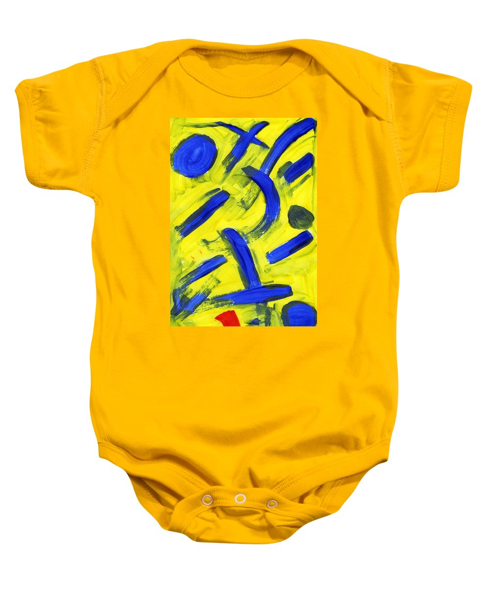New Emergence Baby Onesie featuring the painting New Emergence by Taylor Webb