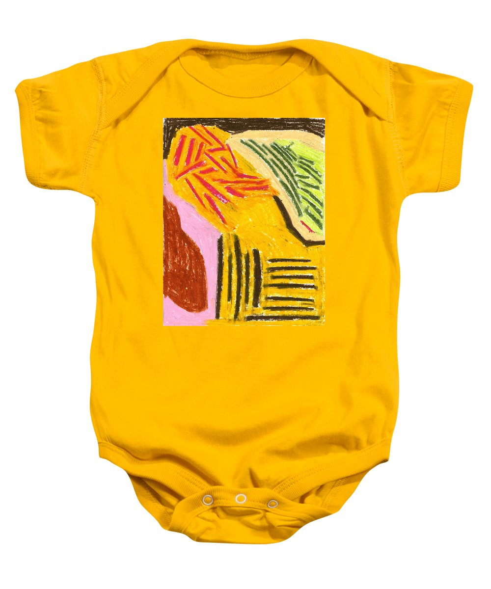New Harvest Baby Onesie featuring the painting New Harvest by Taylor Webb