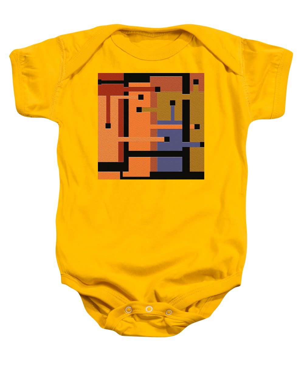 Abstract Art Baby Onesie featuring the digital art Opinions by Ely Arsha