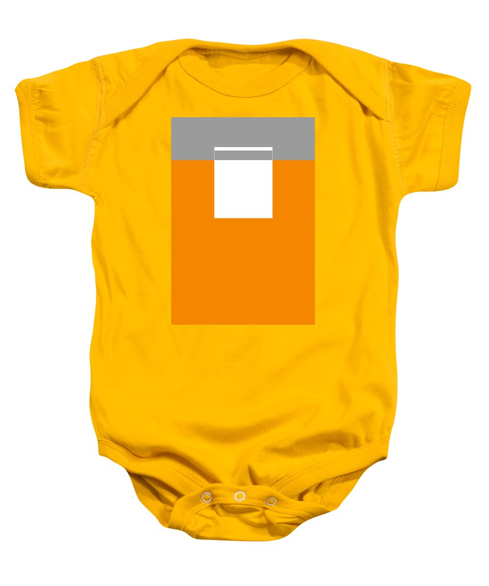 Abstract Baby Onesie featuring the digital art Ore by Naxart Studio