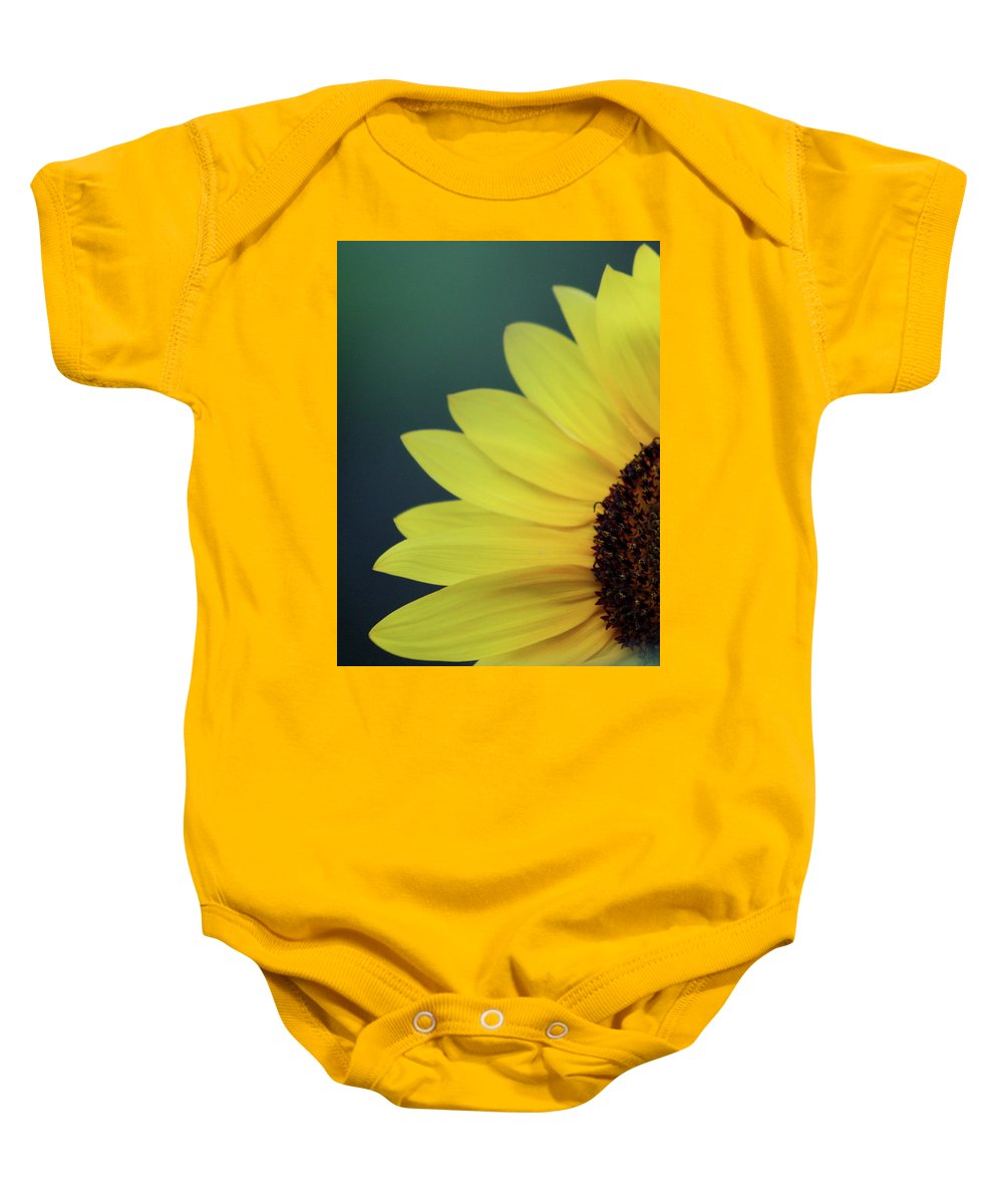 Sunflower Baby Onesie featuring the photograph Pedals Of Sunshine by Cathie Douglas