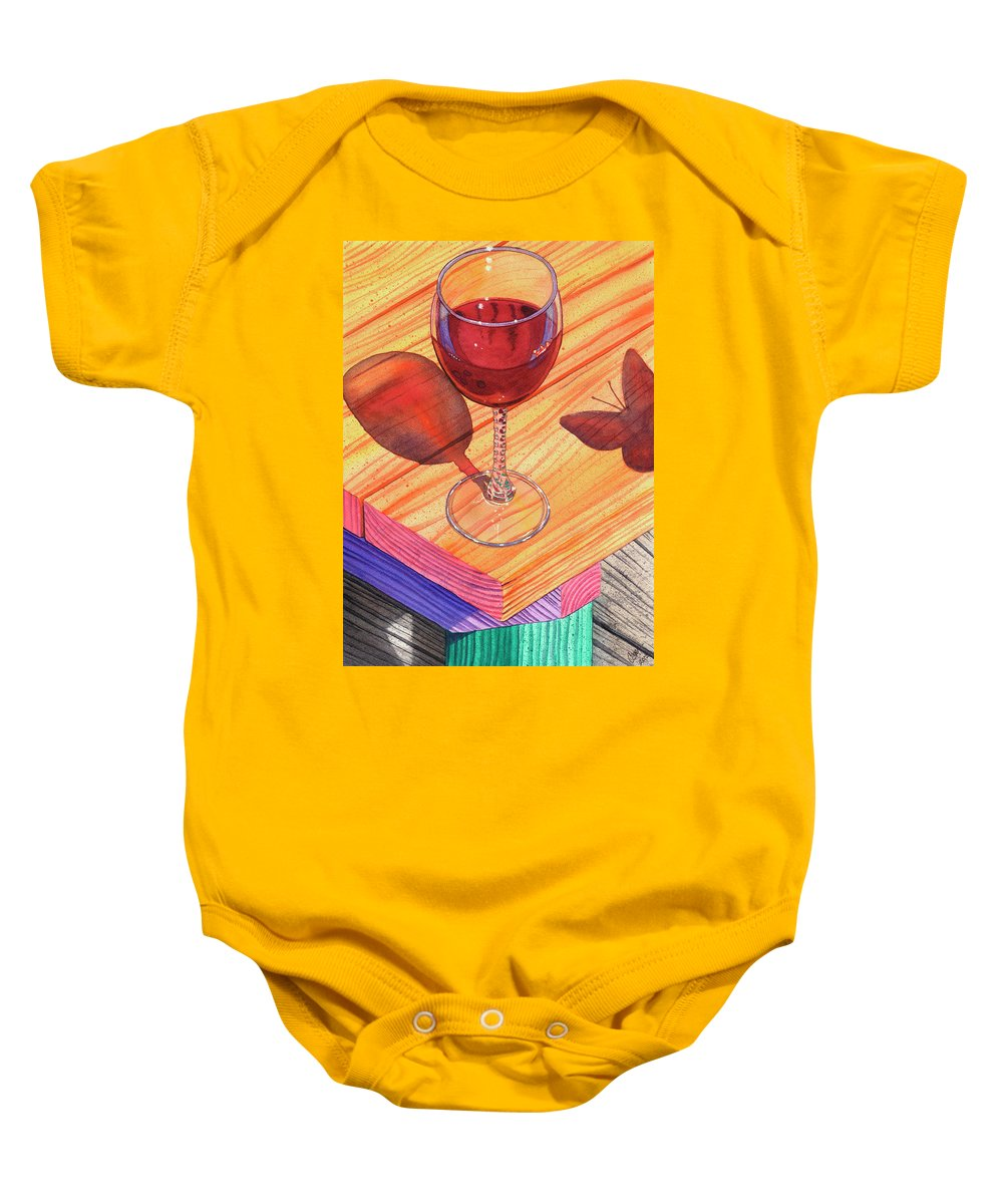 Wine Baby Onesie featuring the painting Pinot Noir by Catherine G McElroy