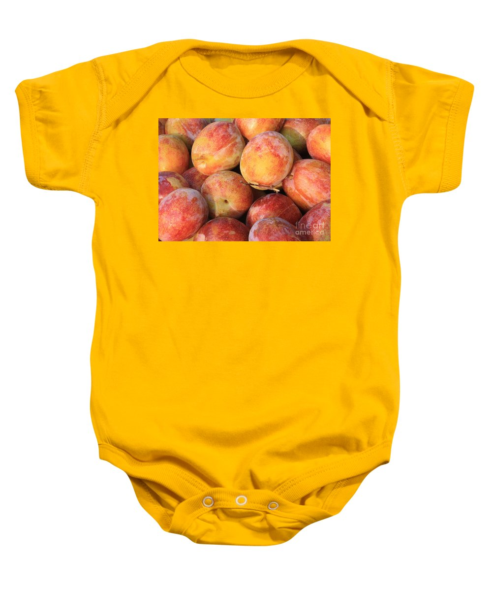 Plums Baby Onesie featuring the photograph Plums by Carol Groenen
