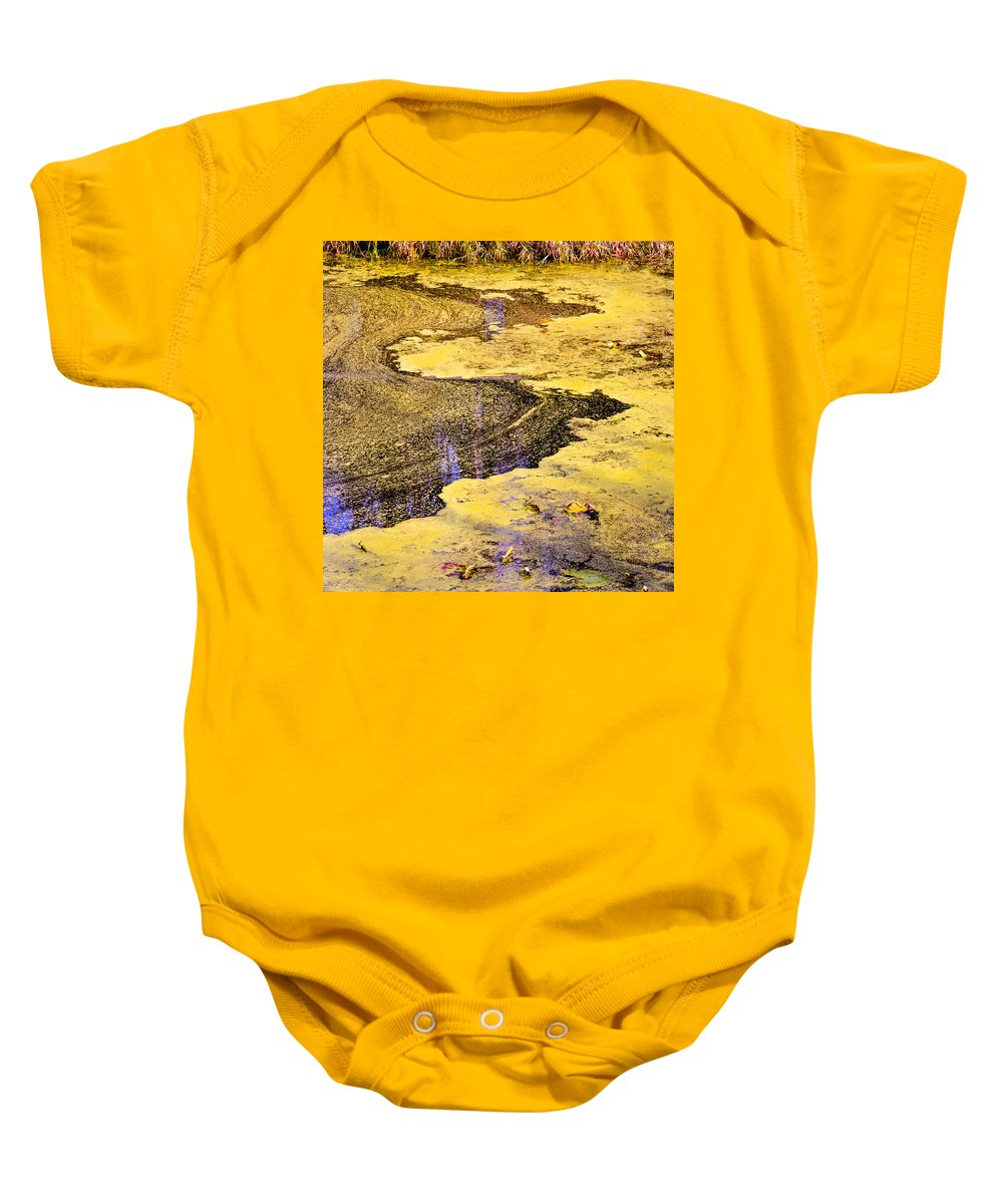 Pond Scum Baby Onesie featuring the photograph Pond Scum One by Mike Penney