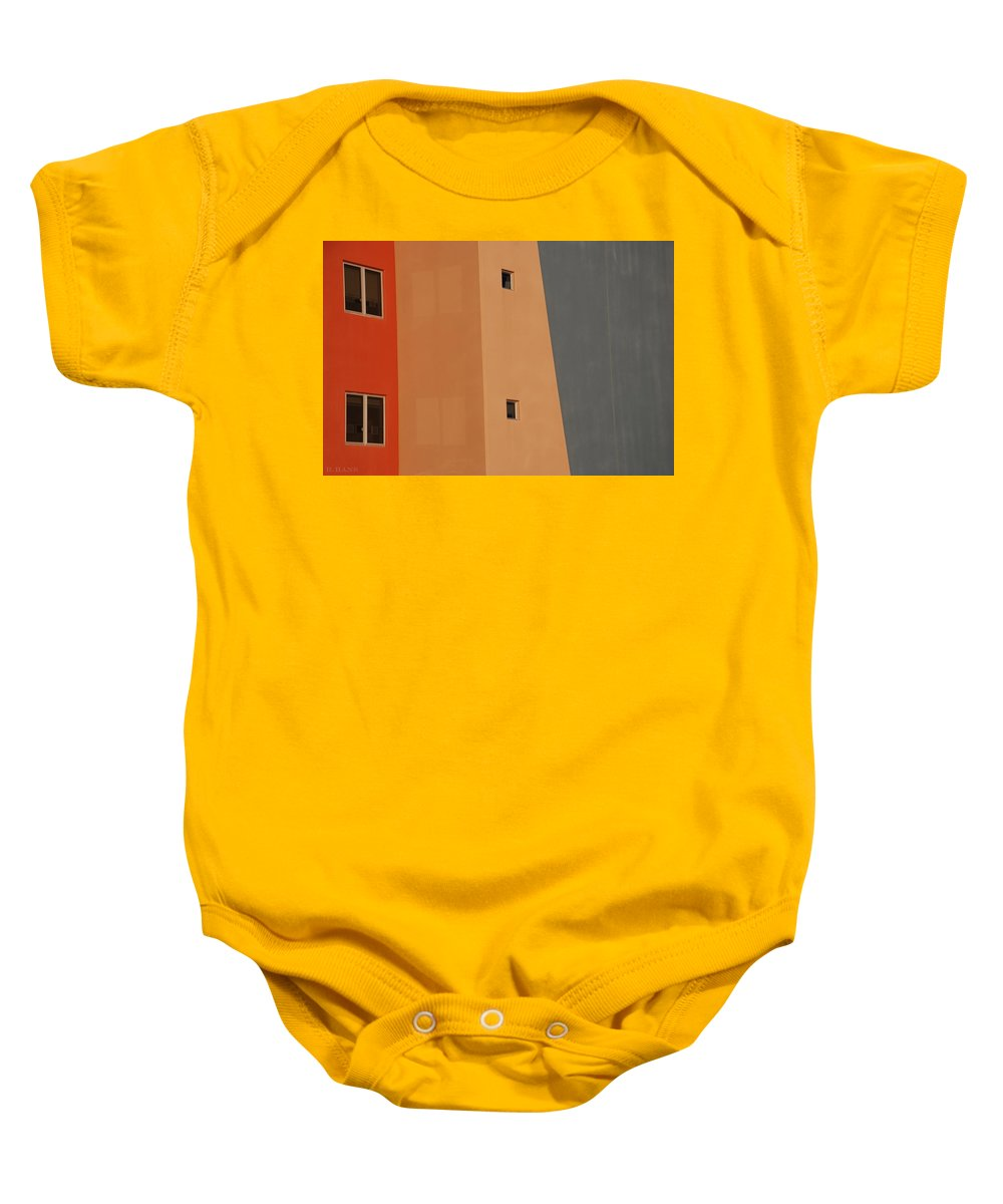 Architecture Baby Onesie featuring the photograph Q W School In Color by Rob Hans