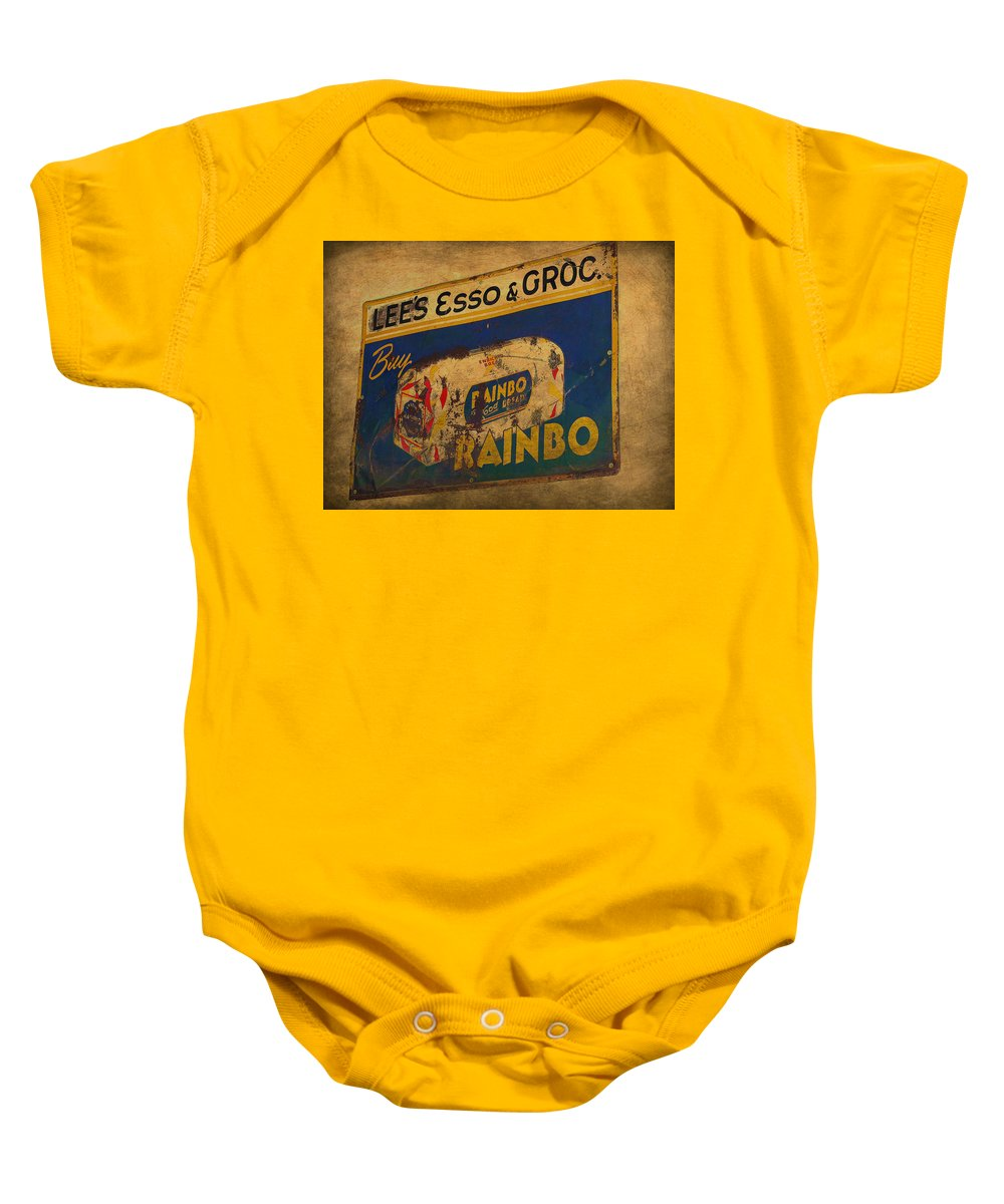 Rainbo Bread Baby Onesie featuring the photograph Rainbo Bread by Todd Hostetter