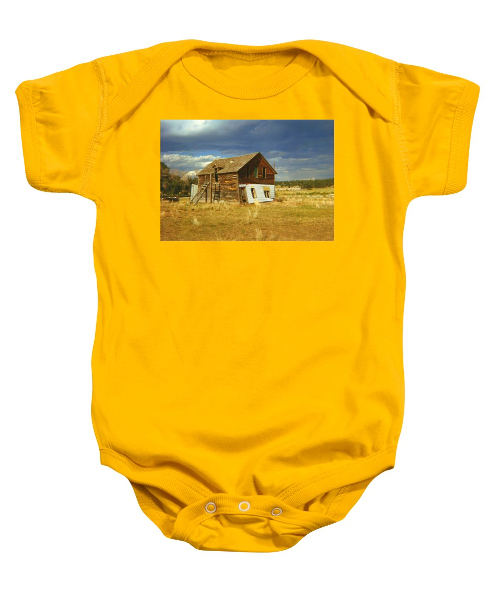 House Baby Onesie featuring the photograph Ranch House by Bonfire Photography
