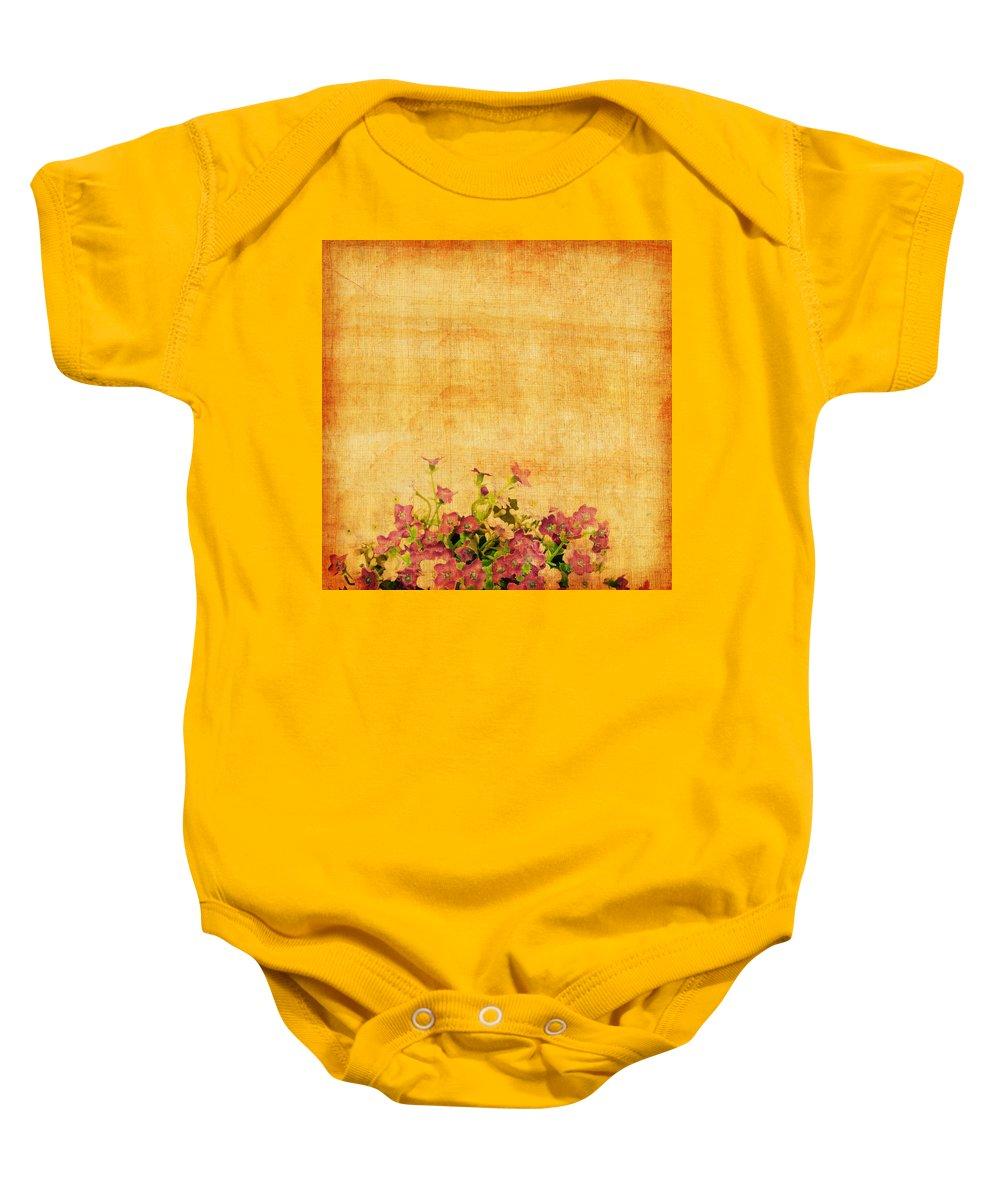 Abstract Baby Onesie featuring the photograph Retro Flower Pattern by Setsiri Silapasuwanchai