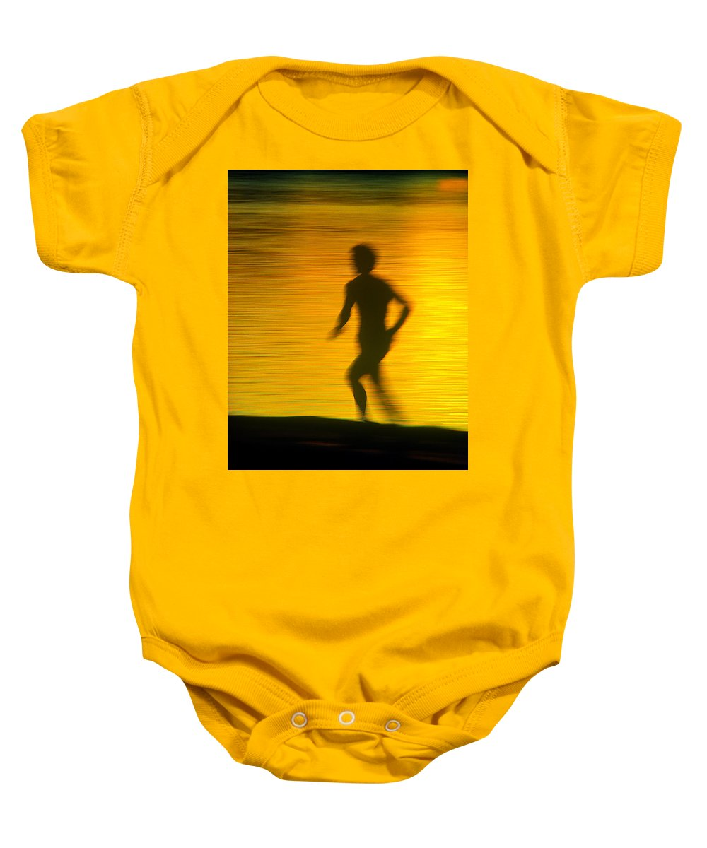 Jogger Baby Onesie featuring the photograph River Runner 1 by Garry McMichael