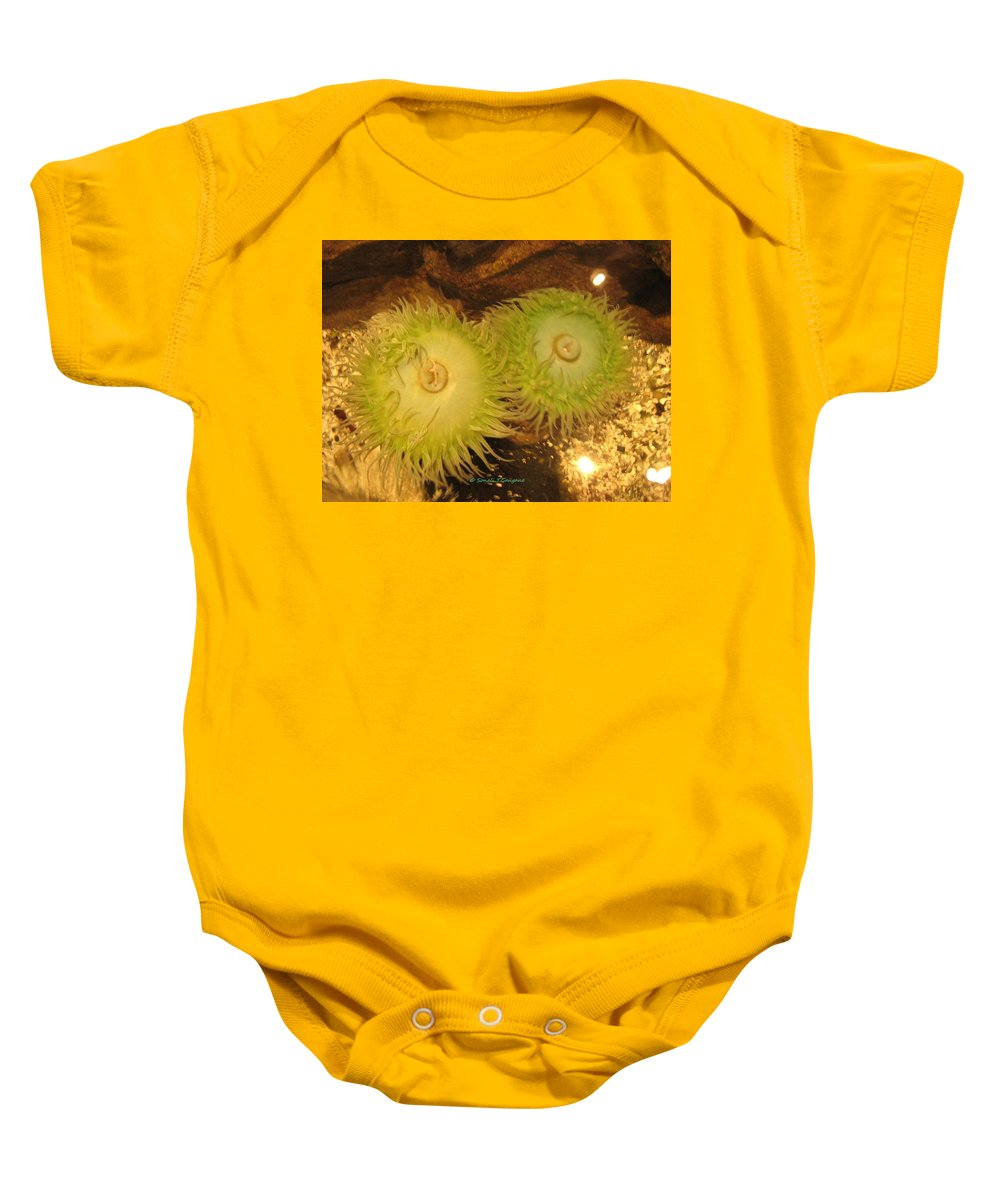 Sea Creature Baby Onesie featuring the photograph Sea Anemone by Sonali Gangane