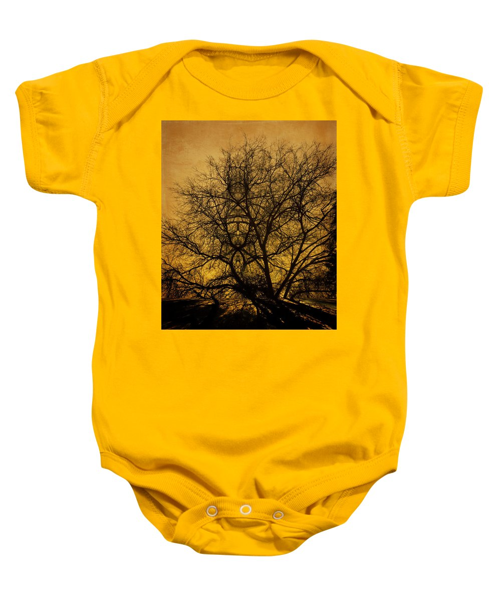 Shadows Baby Onesie featuring the photograph Shadows by Jay Hooker