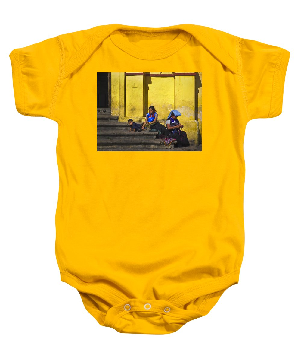 Women Baby Onesie featuring the photograph Short Leash by Skip Hunt