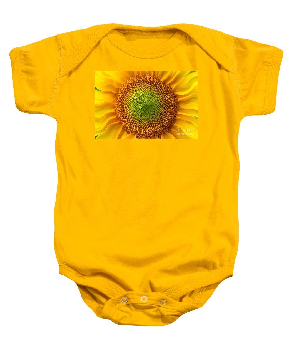Sunflower Baby Onesie featuring the photograph Sunflower Fantasy by Benanne Stiens