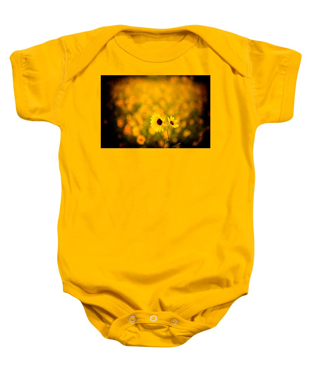 Sunflower Baby Onesie featuring the photograph Sunflowers by Scott Sawyer