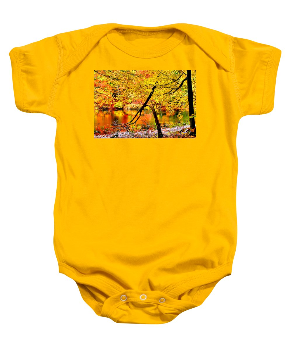 Autumn Baby Onesie featuring the photograph The Final Bough by Kristin Elmquist