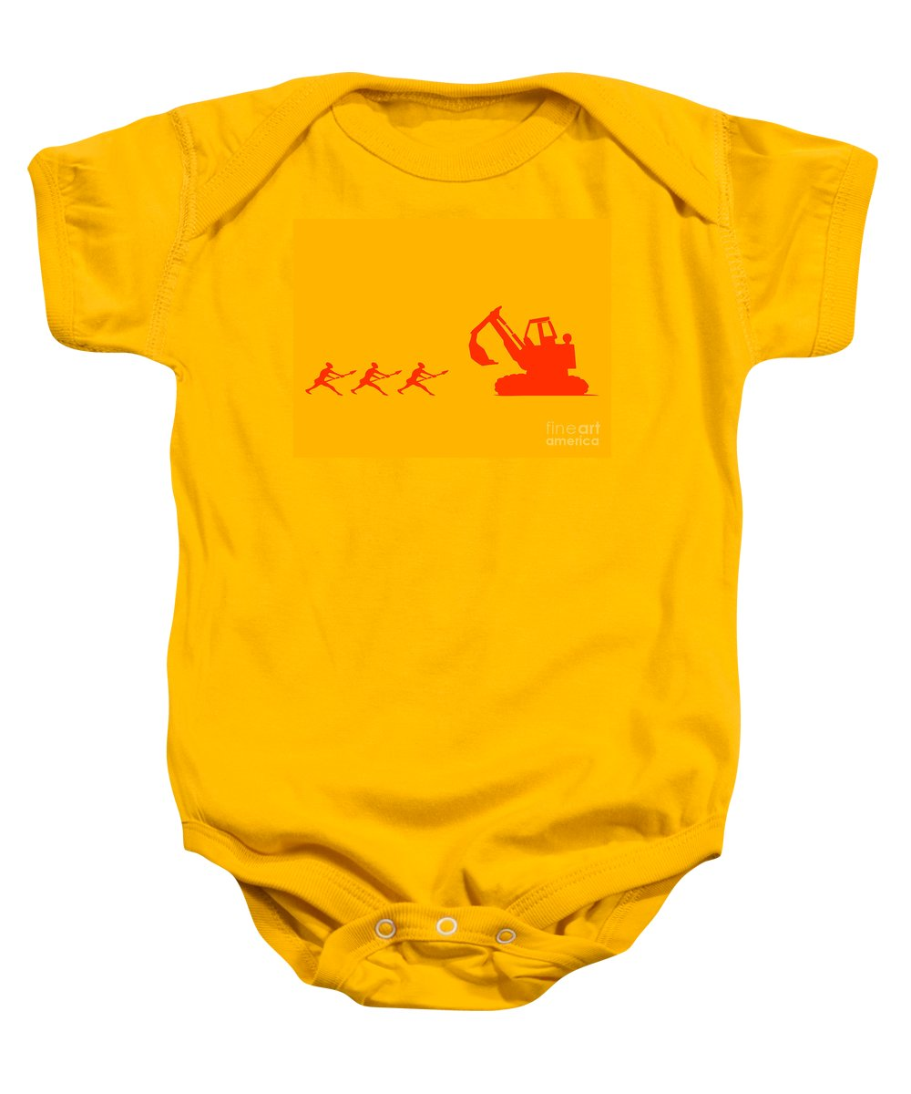 Warrior Baby Onesie featuring the painting The Hunters by Pixel Chimp