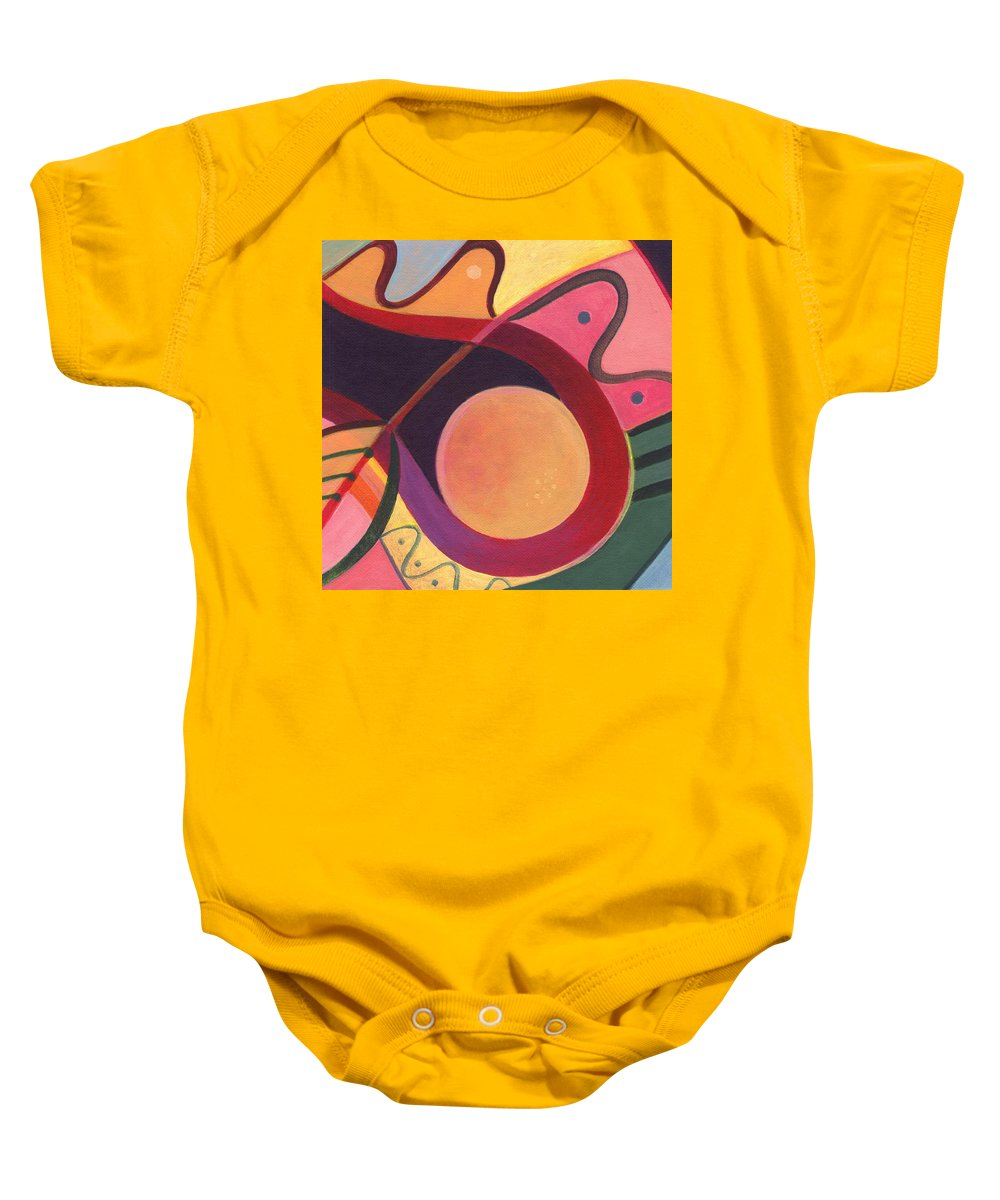Abstract Baby Onesie featuring the digital art The Joy Of Design I Part Four by Helena Tiainen