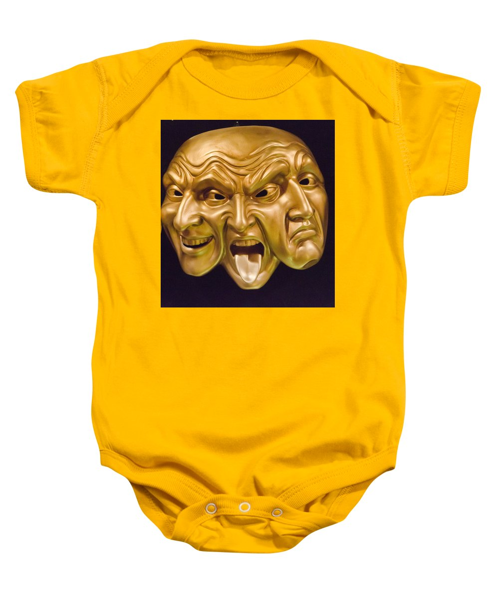 Three Faces Baby Onesie featuring the photograph Three Faces by Jon Berghoff