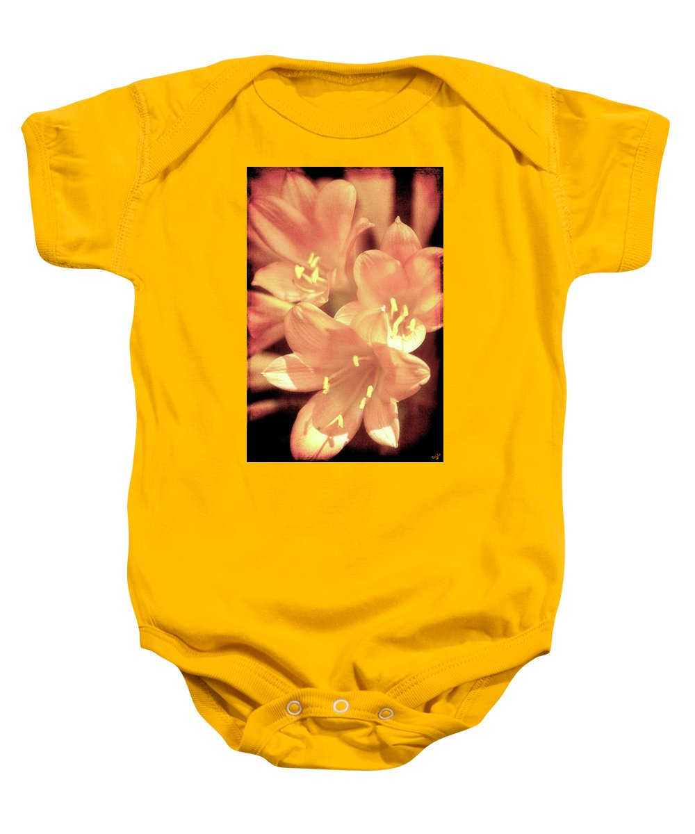 Flower Baby Onesie featuring the photograph Tropical Glow by Chris Lord