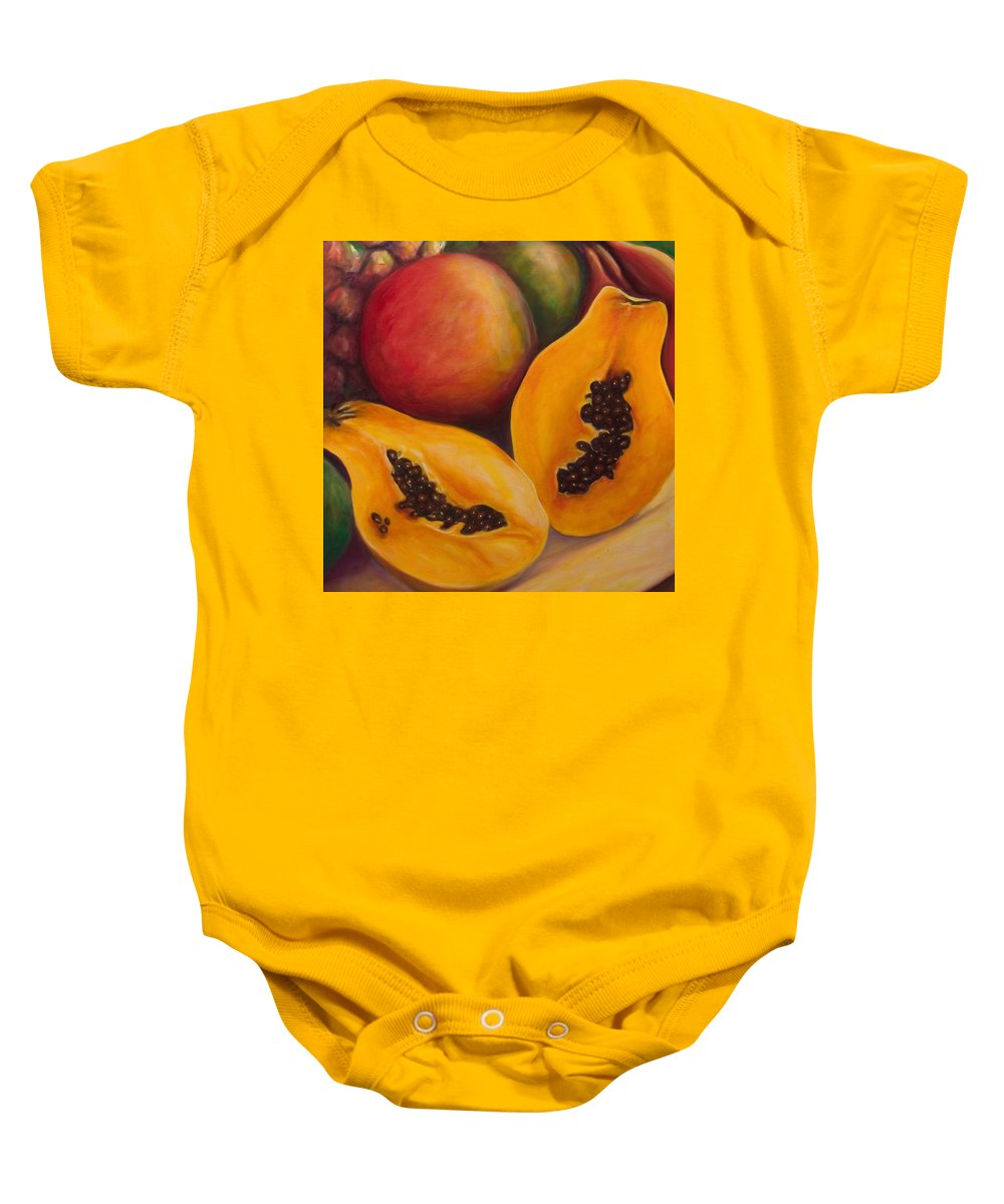 Twins Baby Onesie featuring the painting Twins Crop by Shannon Grissom