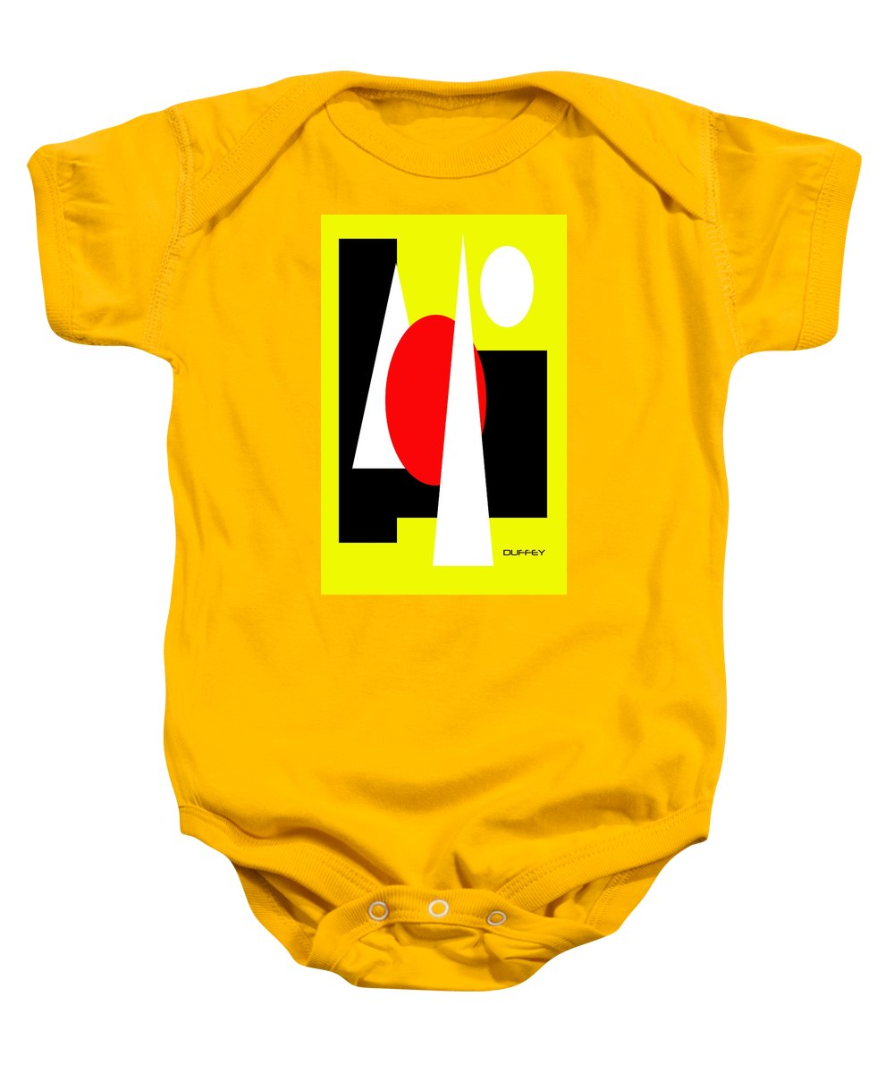 Post Constructivism/geometric Digital Drawings Baby Onesie featuring the photograph Untitled Ch 10 by Doug Duffey