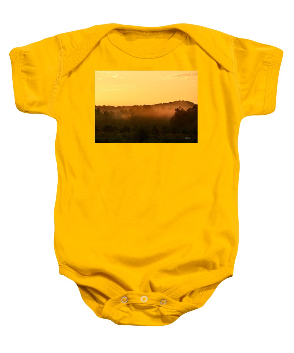 Valley Baby Onesie featuring the photograph Valley Fog by Maria Urso