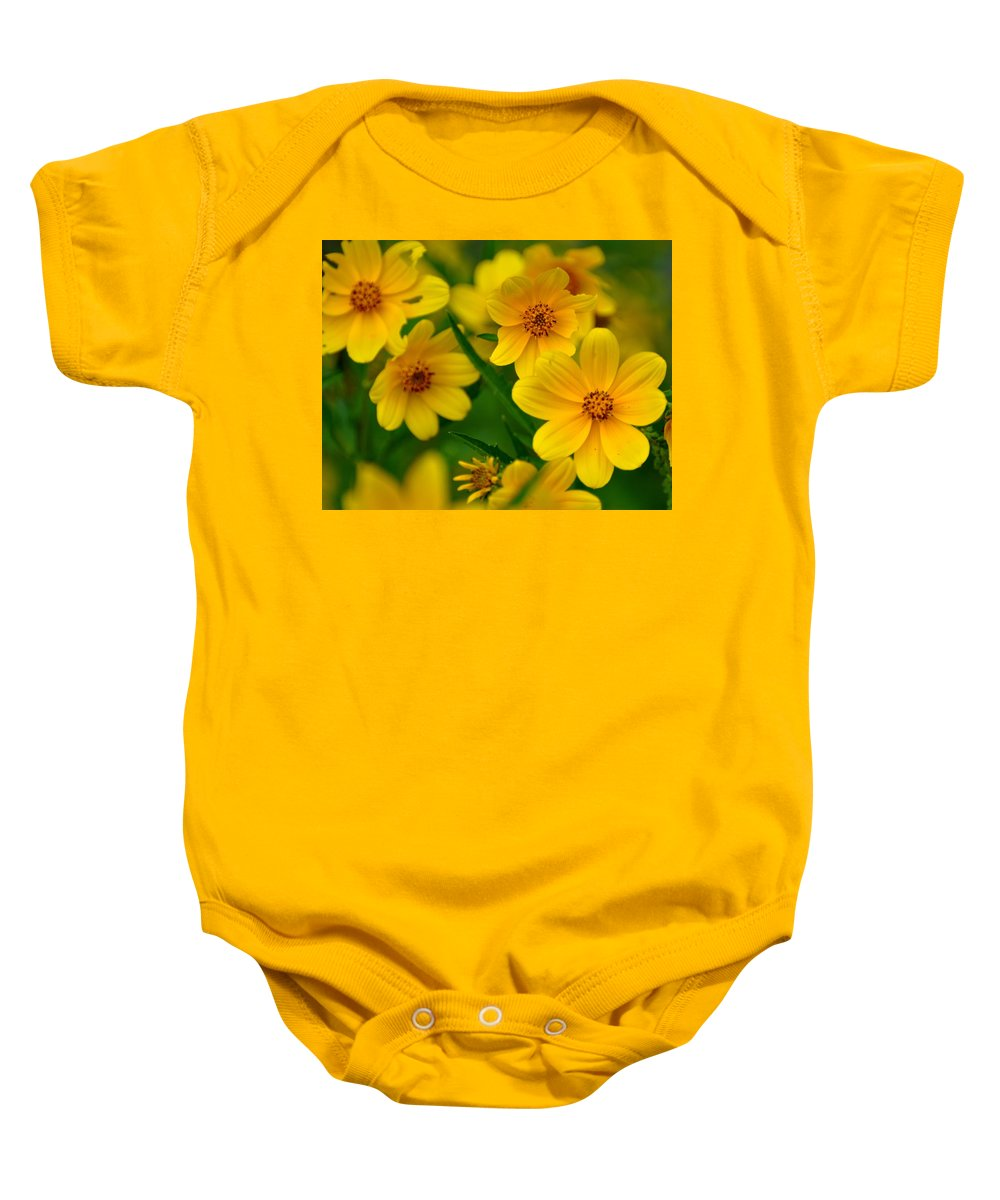 Wildflower Baby Onesie featuring the photograph Yellow Flowers by Marty Koch