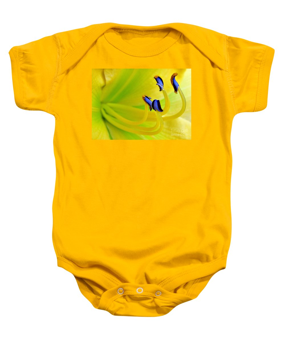 Lily Baby Onesie featuring the photograph Yellow Lily by Judi Bagwell