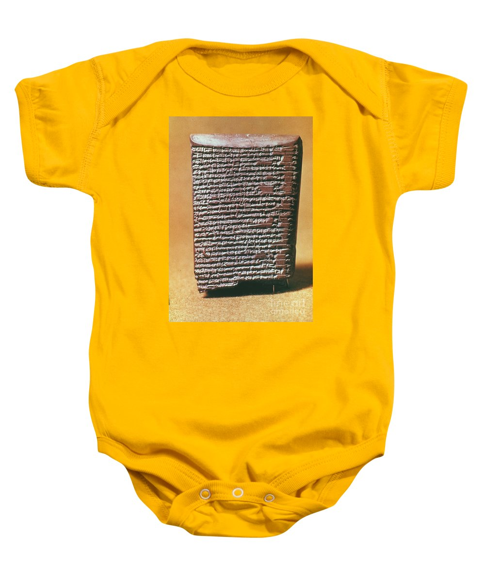 6th Century B.c. Baby Onesie featuring the photograph Babylonian Clay Tablet by Granger