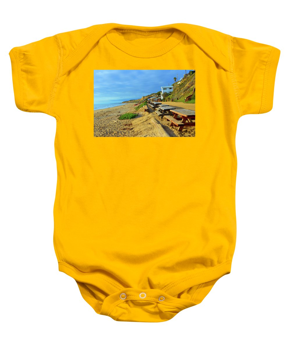 Nature Baby Onesie featuring the photograph Crystal Beach by Richard Jenkins
