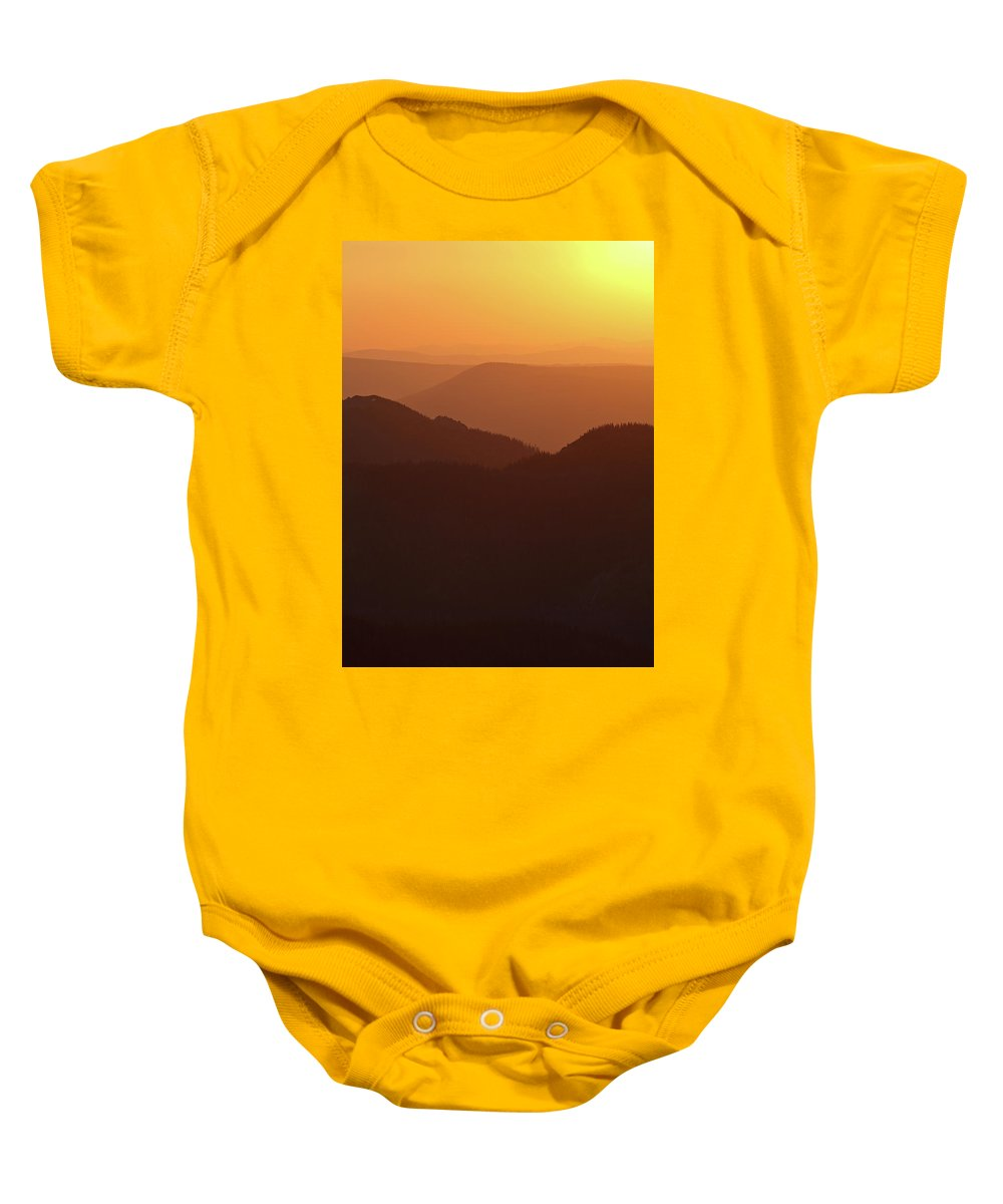 Hill Baby Onesie featuring the photograph Dusk At Tatry Mountains, Carpathian Region, Poland by Lukasz Szczepanski