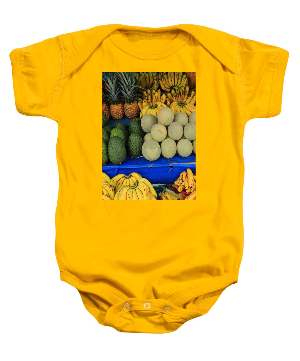 Fruit Baby Onesie featuring the photograph Exotic Fruit Market by Robert Hamm