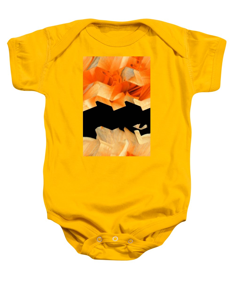 Abstract Baby Onesie featuring the digital art Filaments Of Sun by Lenore Senior