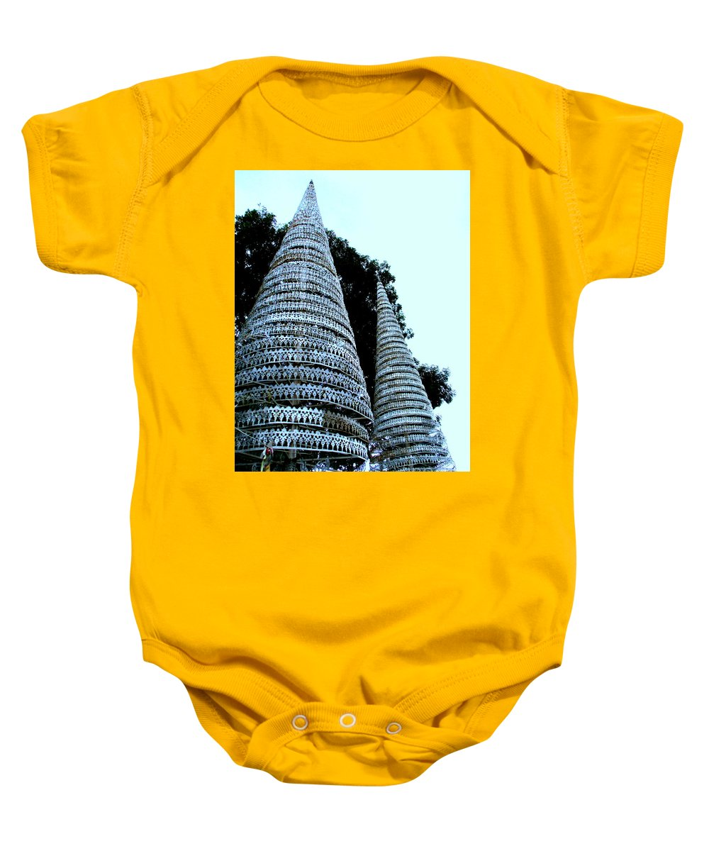Cambodia Baby Onesie featuring the photograph Independence Park 3 by Randall Weidner