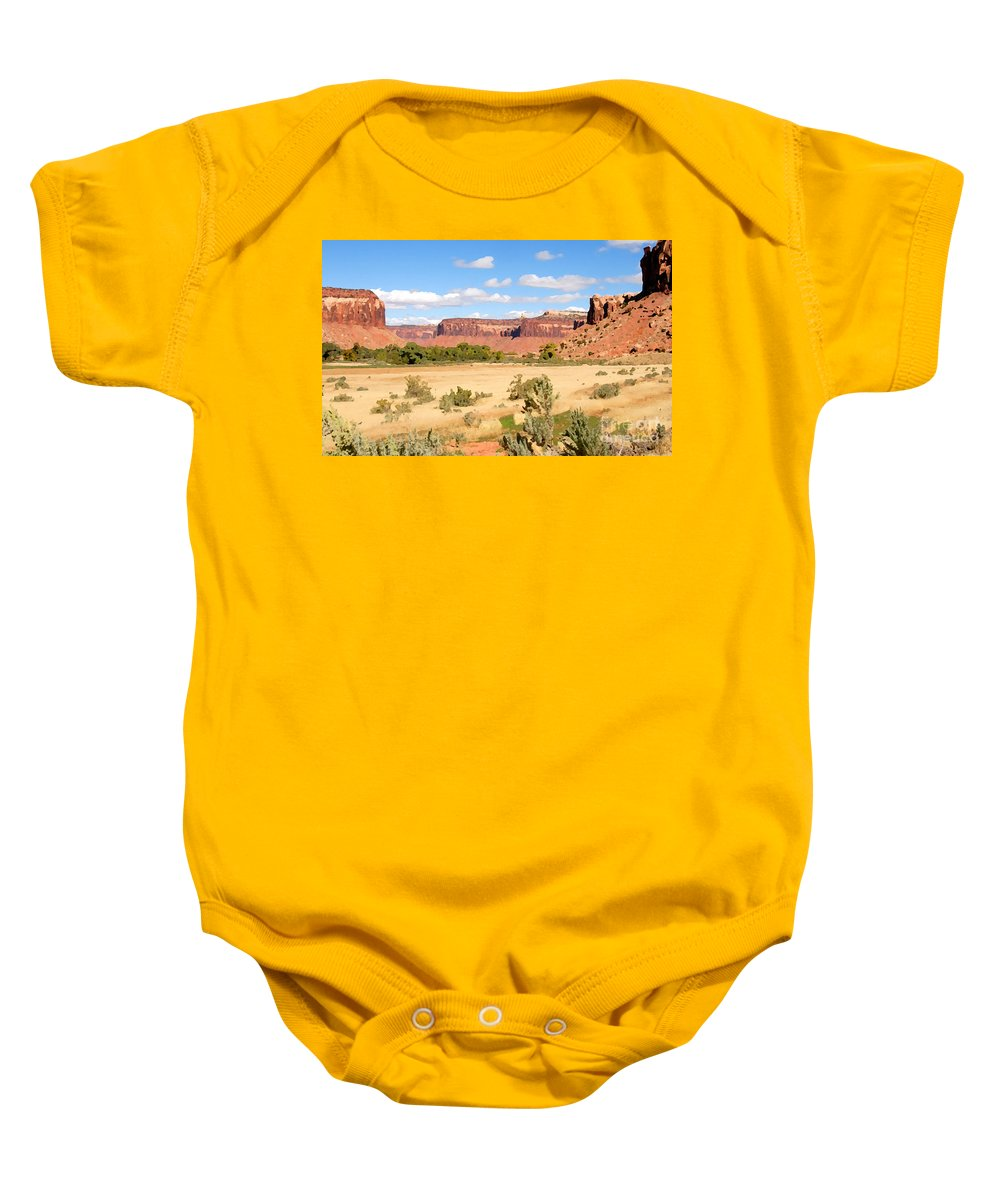Canyon Lands Baby Onesie featuring the photograph Land Of Canyons by David Lee Thompson