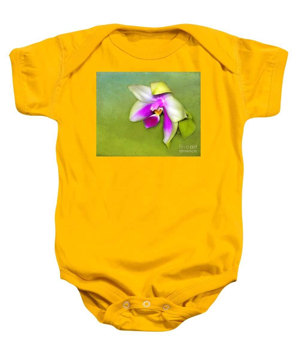 Orchid Baby Onesie featuring the photograph Shy Orchid by Judi Bagwell