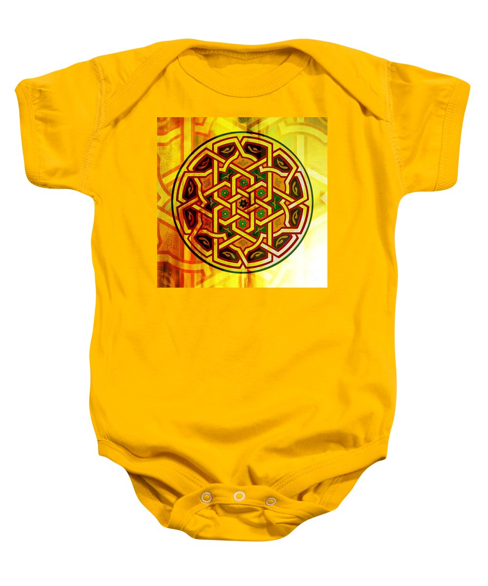 Pattern Baby Onesie featuring the painting Pattern Art 0014 by Gull G