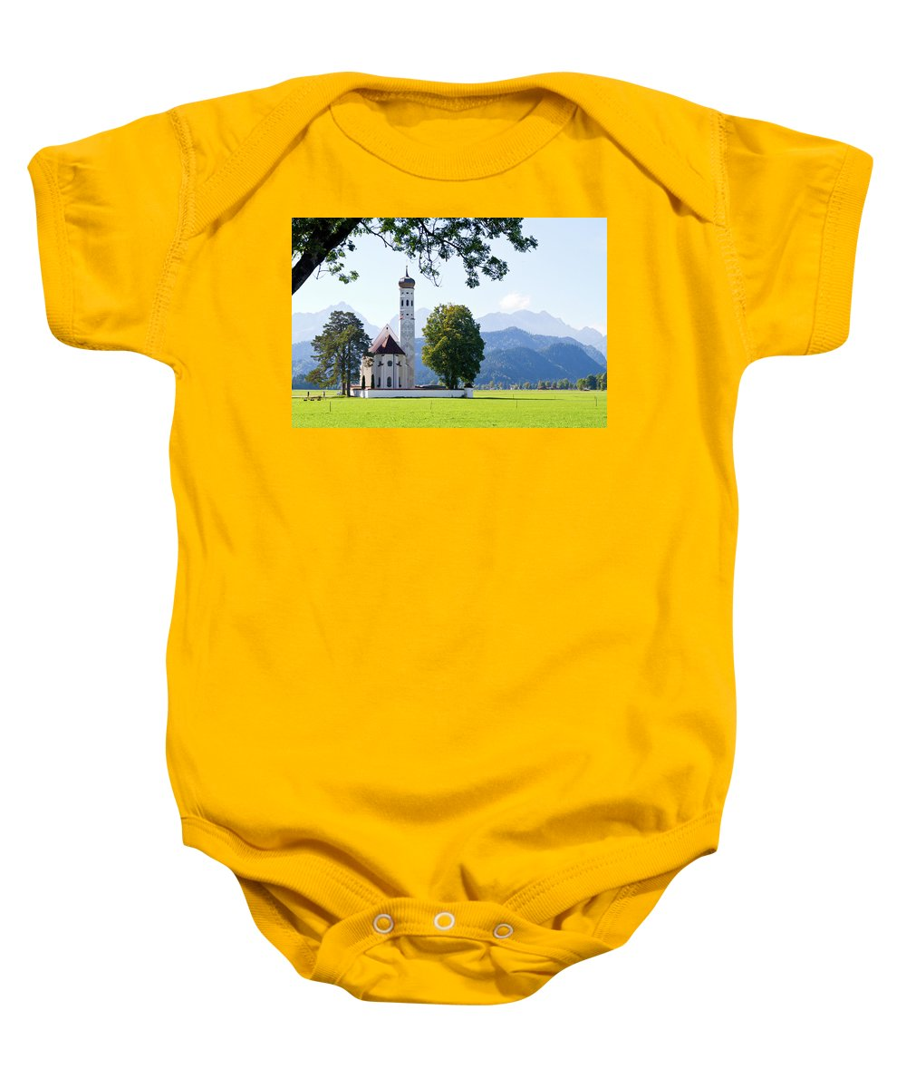 St. Baby Onesie featuring the photograph Saint Coloman Church 2 by Bernard Barcos
