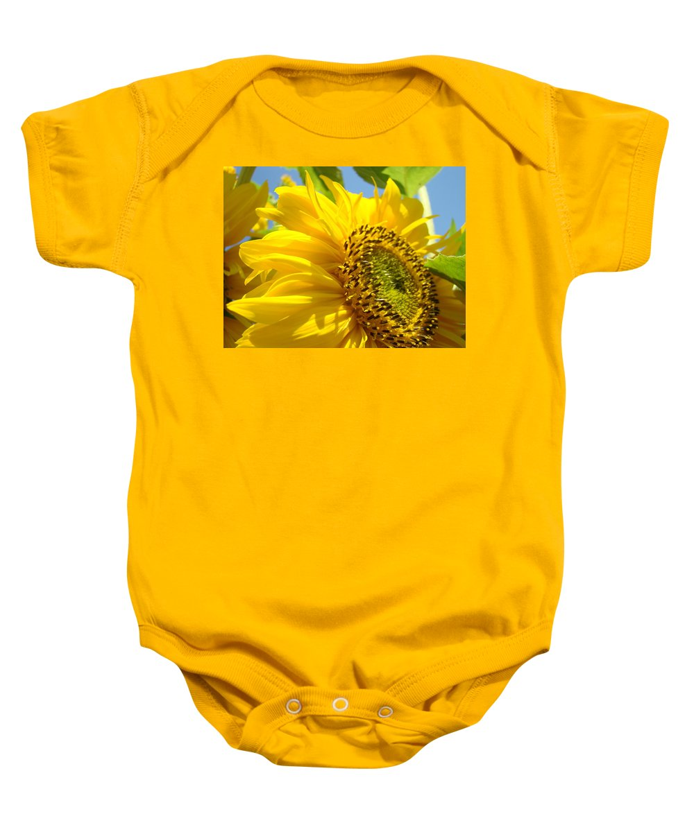 Sunflower Baby Onesie featuring the photograph Sunflowers Art Prints Sun Flower Giclee Prints Baslee Troutman by Baslee Troutman