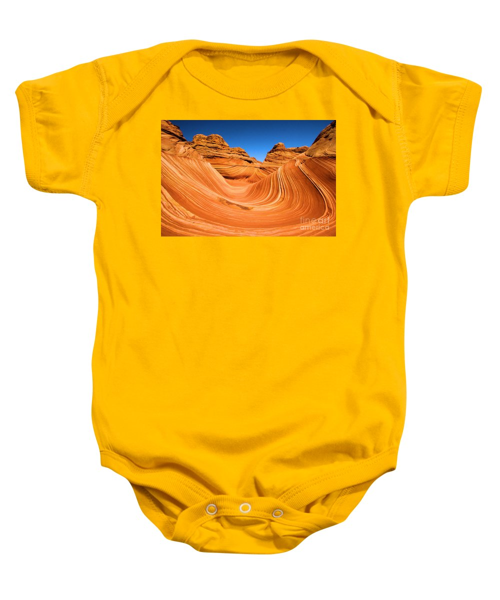 The Wave Baby Onesie featuring the photograph The Wave by Adam Jewell