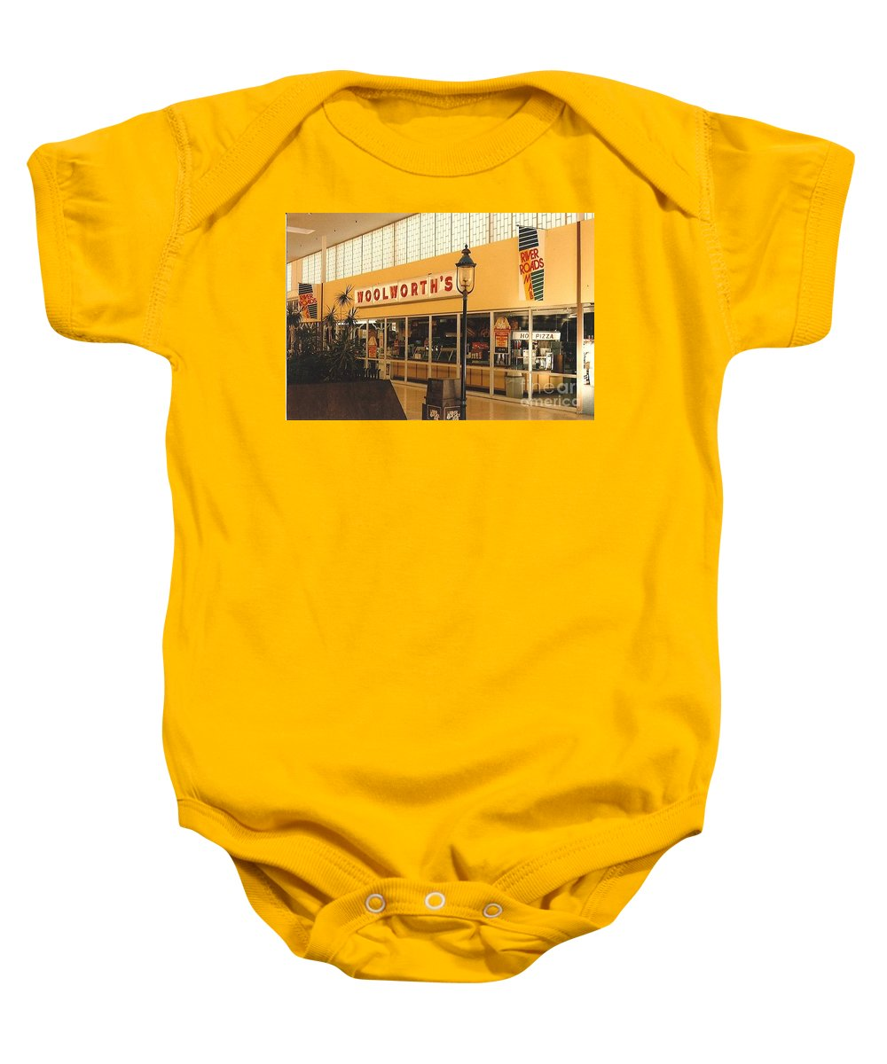 Woolworth Baby Onesie featuring the photograph Woolworth's Store At River Roads Mall by Dwayne Pounds