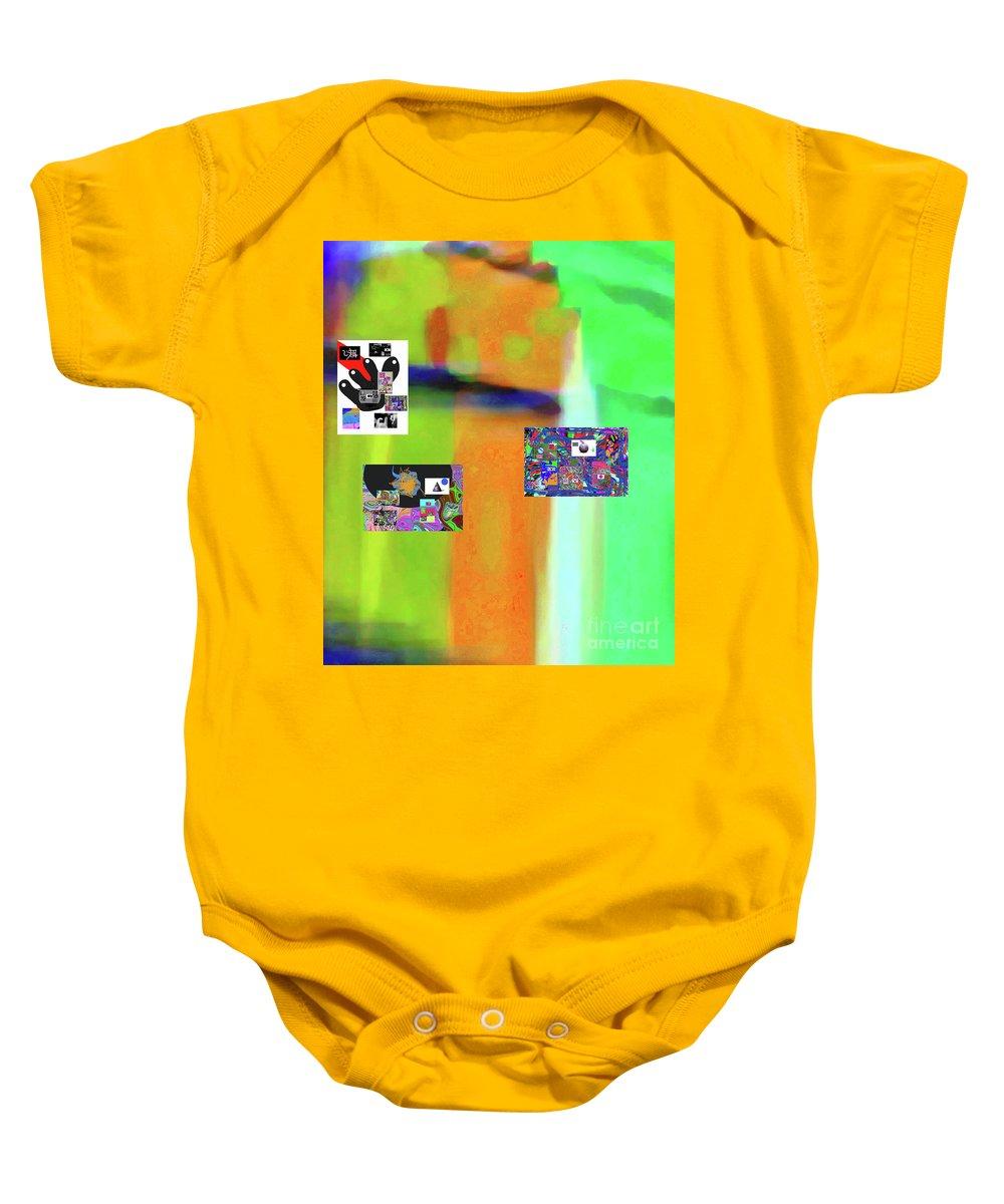 Walter Paul Bebirian Baby Onesie featuring the digital art 11-20-2015dabcdefghijklmnopqrtuvwxyzabcde by Walter Paul Bebirian