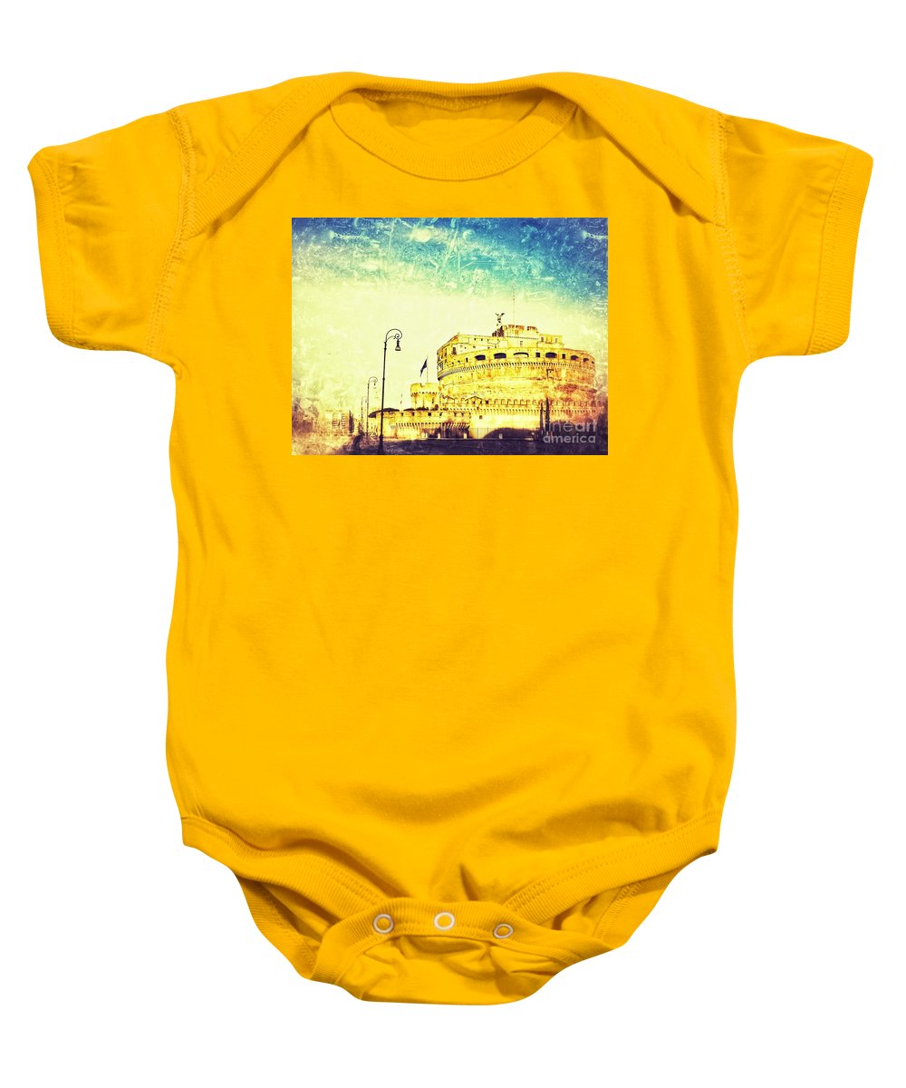 Wallpaper Baby Onesie featuring the photograph Castel Sant'angelo by Lasse Ansaharju