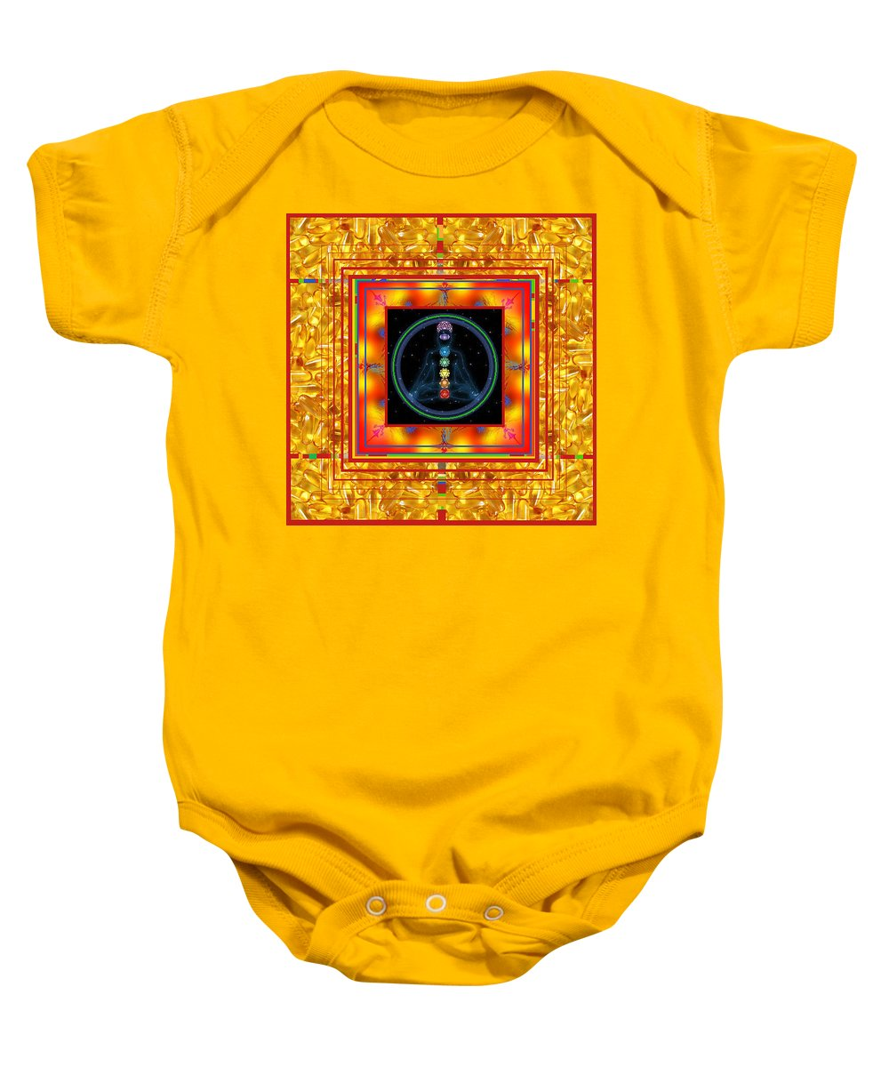 Baby Onesie featuring the digital art Find Your Mind by Kenneth A Post