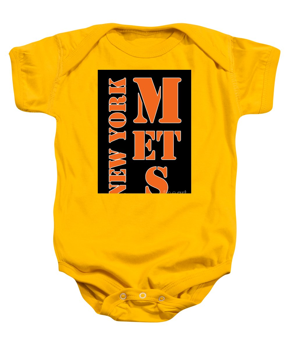 finest selection d5714 fd362 New York Mets Typography Baby Onesie